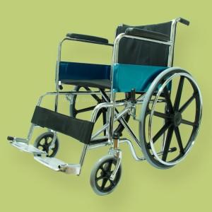 1.2-Single-Cross-Bar-Steel-Wheelchair-with-Mag-Wheels---E