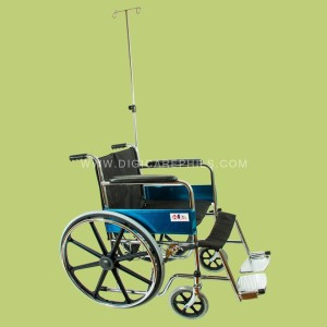 Mag Wheelchair with 2-Hook IV Pole and Oxygen Tank Holder