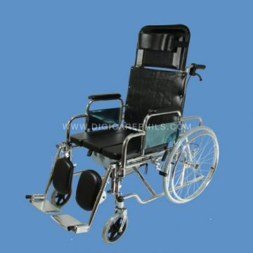 Reclining Commode Wheelchair ... & Reclining Commode Wheelchair   Digicare Medical Products Inc. islam-shia.org