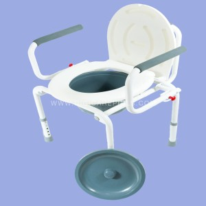 Commode Chair without Foam - White
