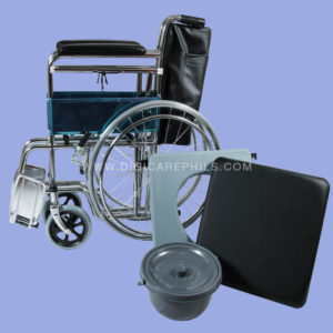 Commode Wheelchair Folded