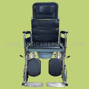 Reclining-Commode-Wheelchair-with-Spoke-Wheels-and-Full- & Reclining Commode Wheelchair | Digicare Medical Products Inc. islam-shia.org