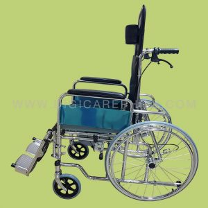 Reclining Commode Wheelchair with Spoke Wheels and Full Seat : reclining commode - islam-shia.org